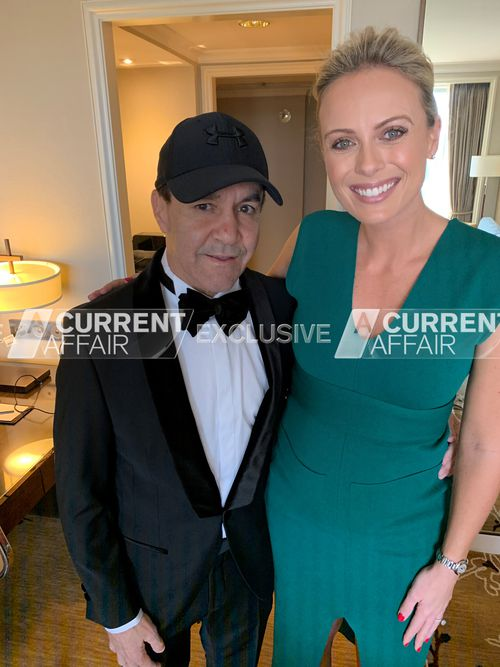 A Current Affair's Sylvia Jeffreys was lucky enough to witness the touching moment Jeff Fenech surprised his daughter at her Sydney wedding today.