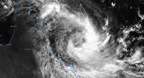 Tropical Cyclone Iris forming off the coast of north Queensland.
