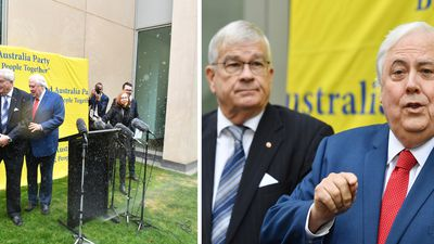 Sprinklers rain on Clive Palmer's parade