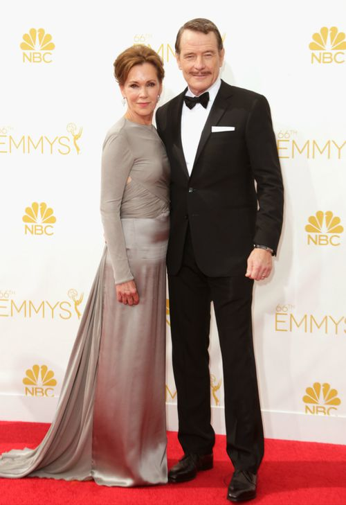 Breaking Bad's Bryan Cranston and Robin Dearden. (Getty Images)