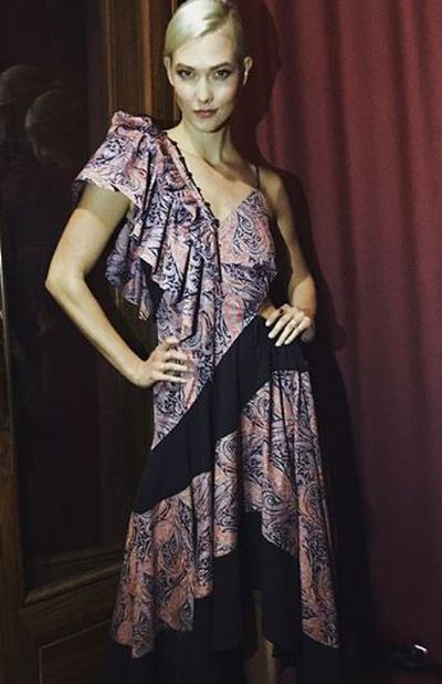 Karlie Kloss in Loewe at the British Fashion Awards 2017, Royal Albert Hall London<br />