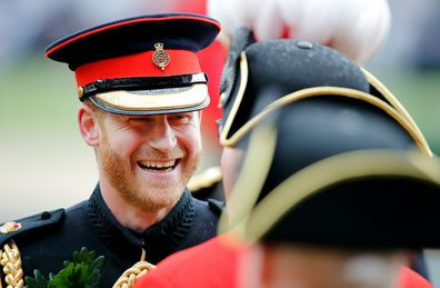 Prince Harry during ceremony