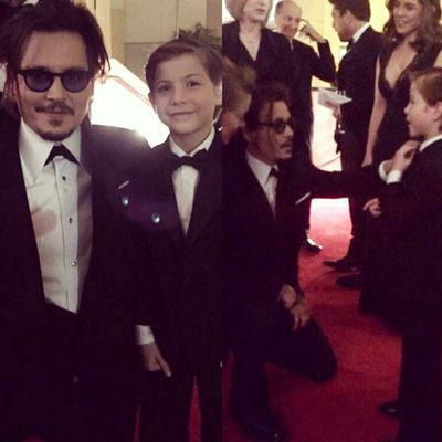 Jacob Tremblay meets his favourite actor Johnny Depp...assumes they're besties now