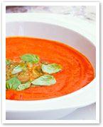 Tomato and capsicum soup