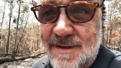 Russell Crowe, video, bushfire, NSW