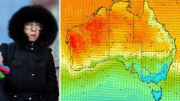 Australia weather forecast cold snap map