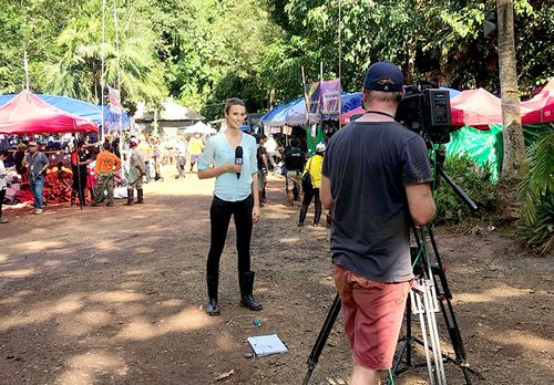 Constant updates being sent back to Australian audiences from Thailand. (Supplied)