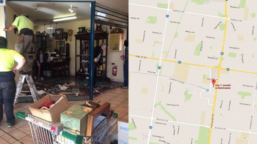 Jewellery swiped in ram-raid in Melbourne's south-east