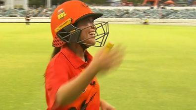 Tracy Vo plays in bushfire relief cricket match