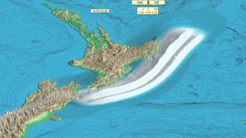 A wave up to 12m high could hit New Zealand in the event of a 'megathrust' (Photo: Ingomar200/Youtube)