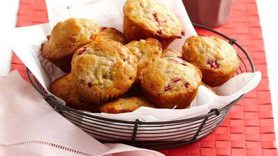 "<a href=""http://kitchen.nine.com.au/2016/05/16/15/27/banana-and-strawberry-muffins"" target=""_top"">Banana and strawberry muffins</a> recipe"