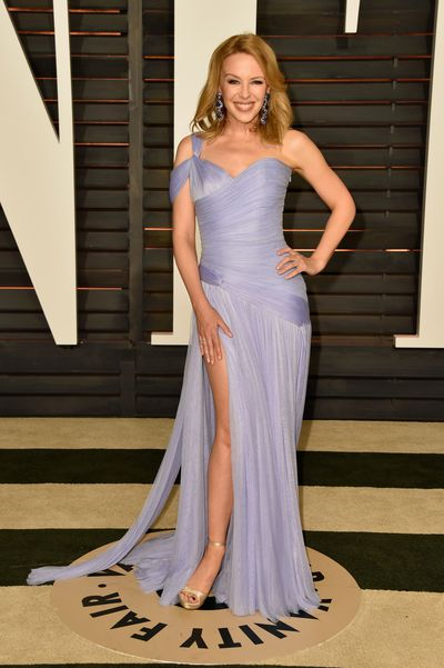 Kylie Minogue wearing  Ralph and Russo at the Vanity Fair Oscar Party in Los Angeles, 2015