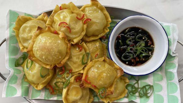 Easy wonton dumplings in the pie maker