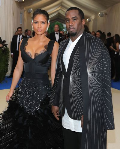 Diddy and partner rapper Cassie at  the 2017 Met Gala, Rei Kawakubo/Comme des Garcons: Art Of The In-Between