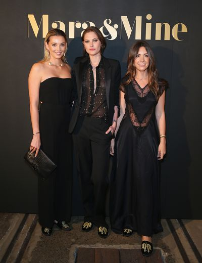 Designers Yasmine Yarbrough  and Tamara Ingham, with Catherine McNeil (middle)