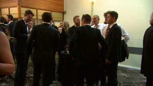 The wake followed an emotional day as the town united to farewell the fallen cricketer.