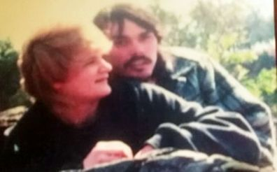 Charlene Holder pictured with Mark in Coffs Harbour, 1983, before he vanished.