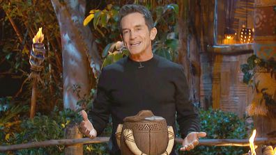 Jeff Probst announces the winner of Survivor: Island of the Idols.