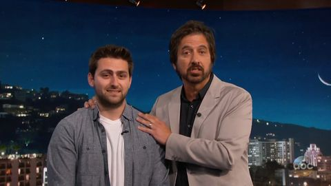 Ray Romano asks Jimmy Kimmel to find a date for his son
