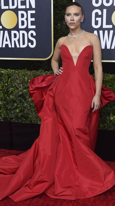 Scarlett Johansson at the 2020 Golden Globes.
