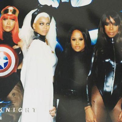 La La Anthony, Beyonce, Angie Beyince and Kelly Rowland