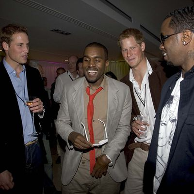 Prince William, Prince Harry, Kanye West and P. Diddy