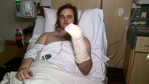 The removalist is set to undergo plastic surgery on a damaged finger. (9NEWS)
