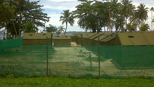 Mr Ahmed collapsed at Manus Island. (AAP)