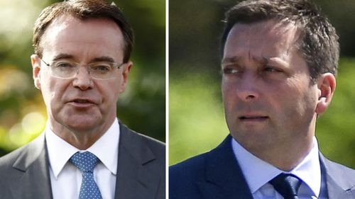Michael O'Brien (left) and Matthew Guy (right) are now involved in a leadership tussle.