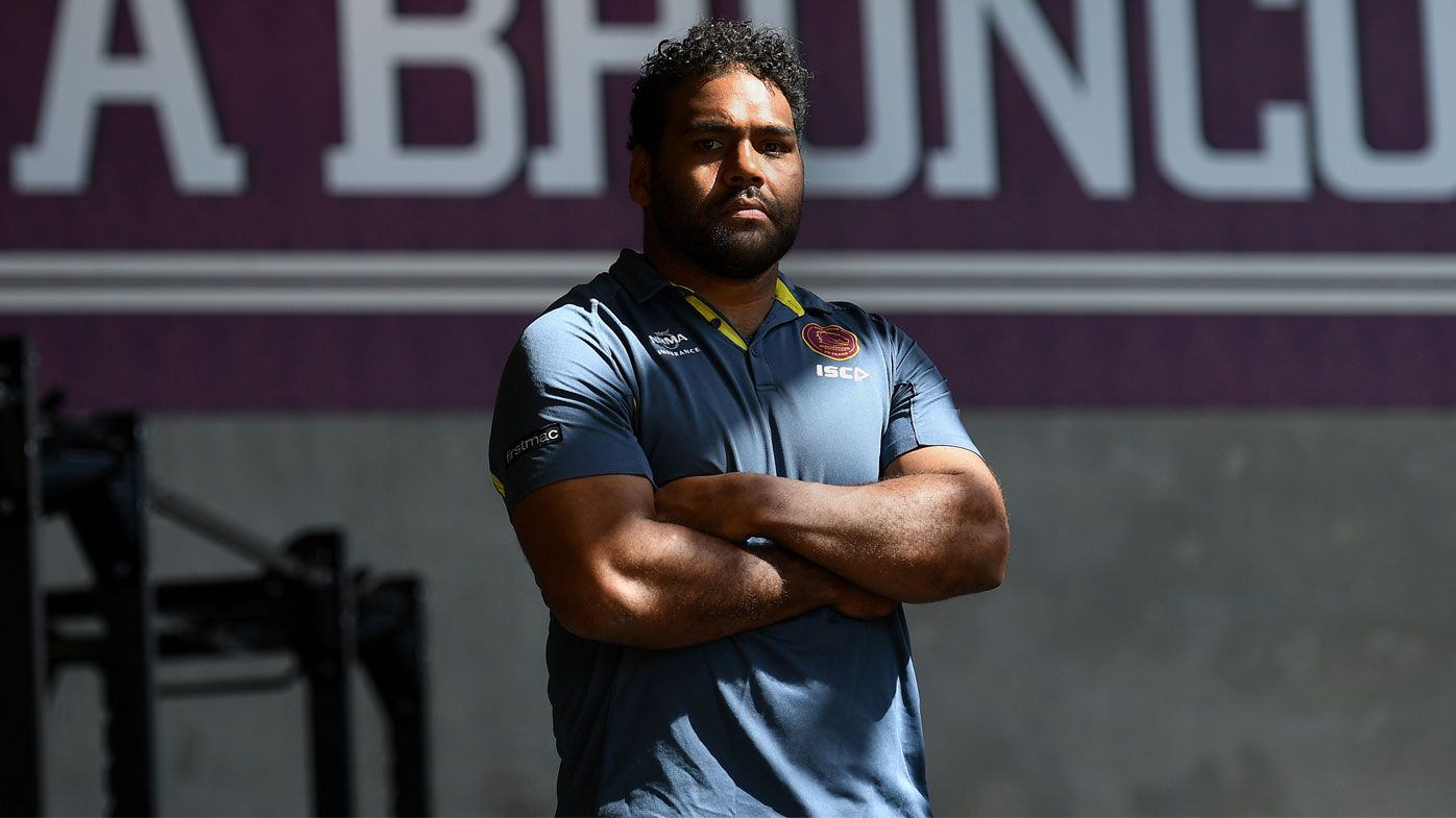 Sam Thaiday celebrates his 300th game