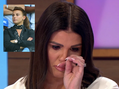 Rebekah Vardy crying on ITV over Coleen Rooney