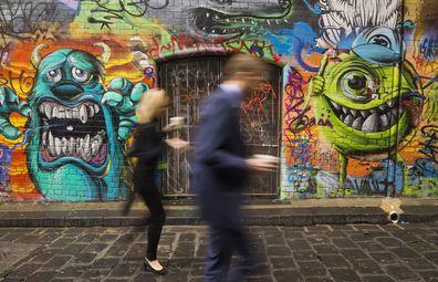 Melbourne's laneway art