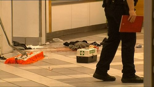 The cleaner's face and back were injured in the vicious attack. Picture: 9NEWS