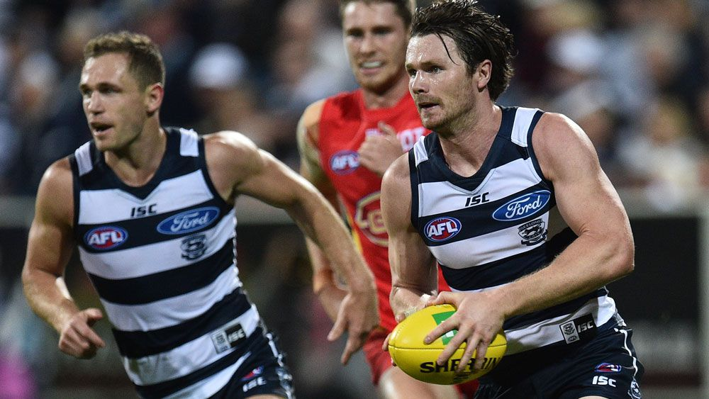 An overreliance on Joel Selwood and Patrick Dangerfield will cost Geelong, says Nathan Brown. (AFP)