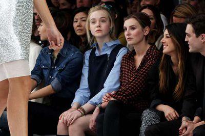 14-year-old actress Elle Fanning looks like she's skipped school...