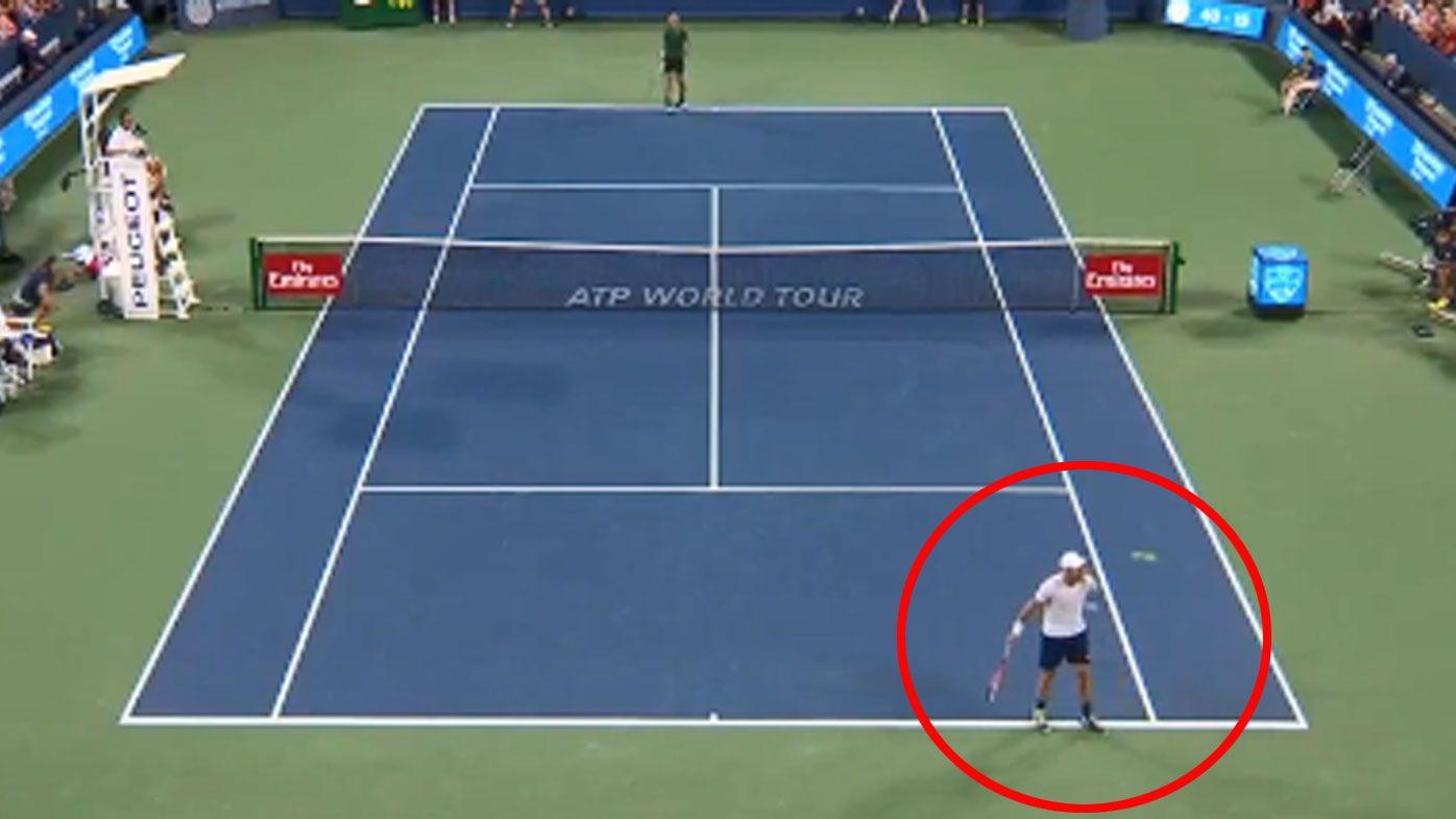 Ball boy left stunned by Steve Johnson's 'nifty' classic catch in match against Novak Djokovic