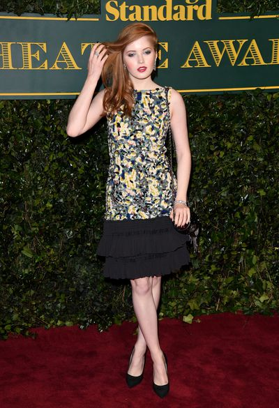 Ellie Bamber in Chanel at the London Evening Standard Theatre Awards.