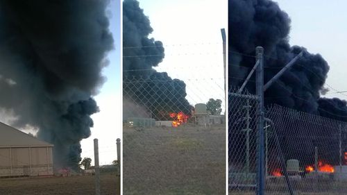 Locals urged to stay indoors after Townsville metal yard fire