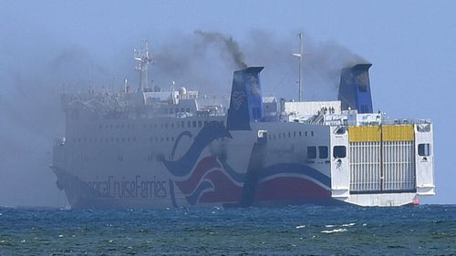 More than 500 rescued from burning ferry in Puerto Rico