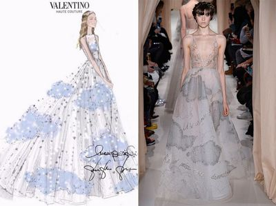<strong>Dress two:</strong> Valentino Couture