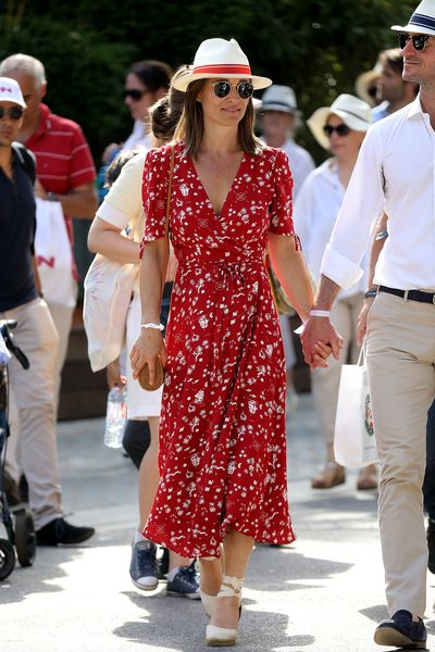 Pippa Middleton Matthews in a dress by Ralph Lauren at the 2018 French Open, May 2018