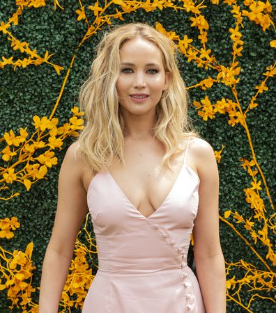 LIBERTY STATE PARK, JERSEY CITY, NEW JERSEY, UNITED STATES - 2019/06/01: Jennifer Lawrence wearing dress by Rosie Assoulin attends 12th Annual Veuve Clicquot Polo Classic at Liberty State Park. (Photo by Lev Radin/Pacific Press/LightRocket via Getty Images)