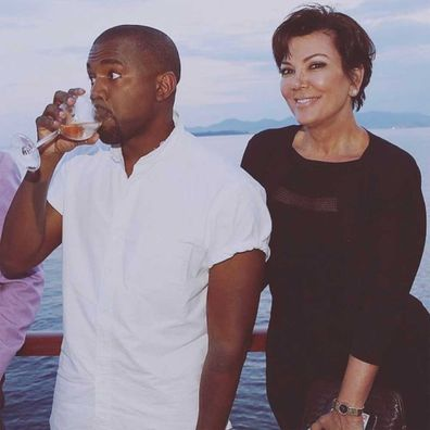 Kanye West and Kris Jenner.