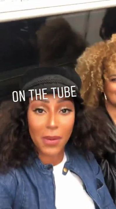 Melanie Brown aka Mel B on the London tube