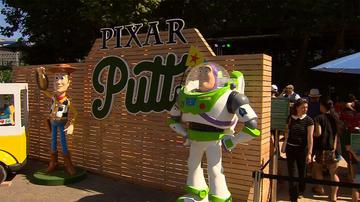 18-hole Pixar Putt has taken over Melbourne's Federation Square.