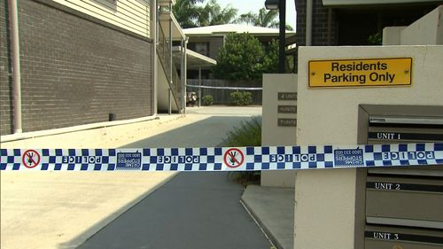 Yeronga apartment residents of this complex had complained to police about a bad smell.