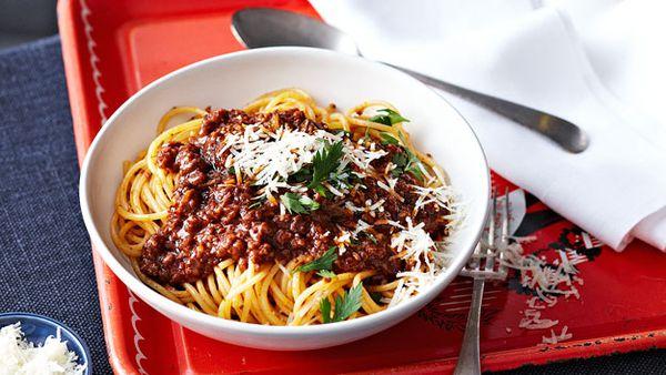 Mum's spaghetti Bolognese