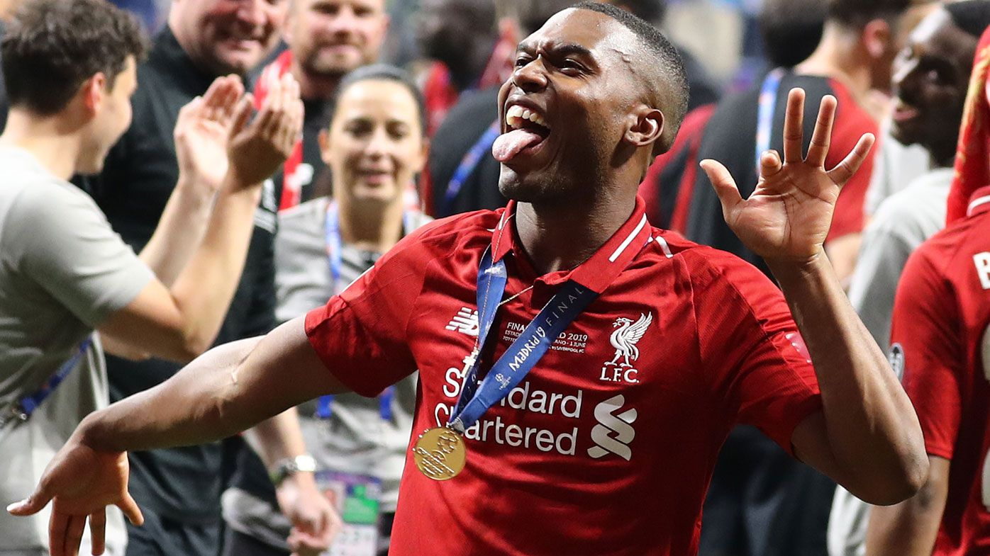 Daniel Sturridge of Liverpool celebrates during the UEFA Champions League Final in 2019