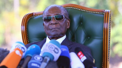 Robert Mugabe has backed a new political party.