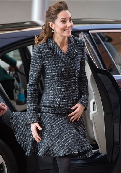 Catherine, Duchess of Cambridge joins a workshop run by the National Portrait Gallery's Hospital Programme at Evelina Children's Hospital on January 28, 2020 in London, England. HRH is Patron of Evelina London Children's Hospital and Patron of the National Portrait Gallery.